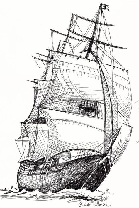 Laura Baran Dessin De Navire Bateau Pirate Dessin Dessin De Bateau