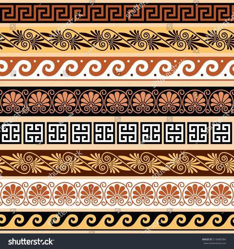 Antik Yunan deseni – Yunanistan'dan antik Stok Vektör (Telifsiz) 513846784