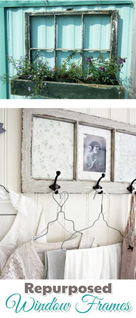 Old Window Frames Diy Ideas And Window Frame Crafts Alte