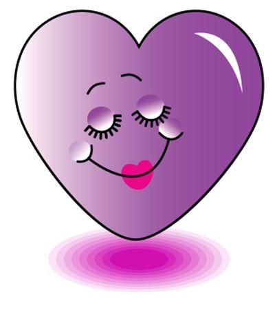 Purple Heart Emoticon | Pretty purple heart icon