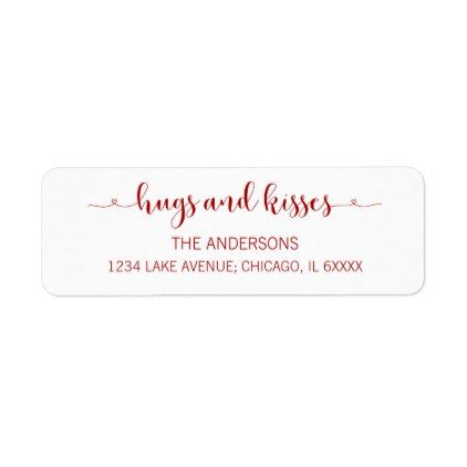 Hugs And Kisses Valentine S Day Address Labels Zazzle Com Address Labels Labels Diy Holiday Card Diy