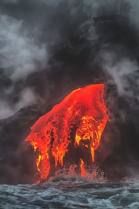 Best Volcanoes Images On Pinterest Nature Volcanoes And Lava - Incredible neon blue lava flames erupt volcano