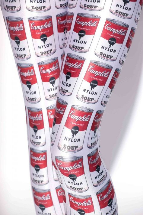 Andy Warhol inspired - Campbells Soup Leggings - I WANT!