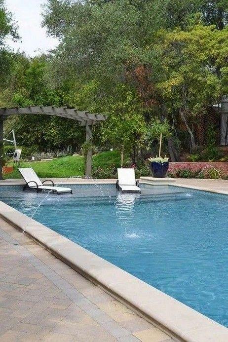16 Backyard Swimming Pool Ideas And Design 2 Poolimgartenideen Here Are Some Swimming Pool De Swimming Pool Landscaping Rectangle Pool Swimming Pools Backyard