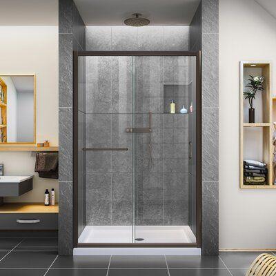 Infinity Z 48 X 72 Single Sliding Semi Frameless Shower Door