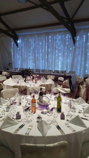 Wedding Set Up With Fairly Lit Backdrop