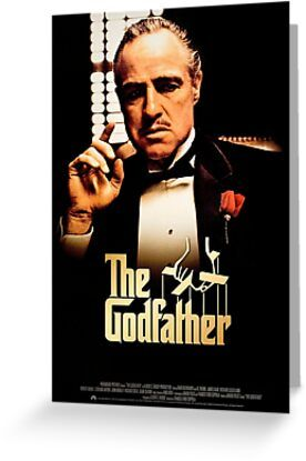 The Godfather Print Greeting Card By Movieprintz In 2021 Godfather Movie The Godfather The Godfather Poster