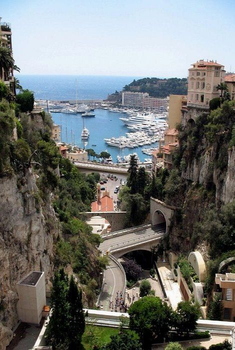 Monte Carlo- spent a month on the French Rivera when I was 23, spent time In Monte Carlo with a nice young man who happened to be an opera singer with the Monte Carlo opera company. He had an apartment with this view of the MC harbor.