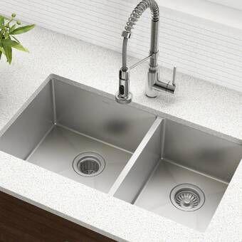 Bedford 36 L X 22 W Farmhouse Kitchen Sink With Faucet