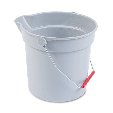 Rubbermaid Commercial 10 Qt Utility Bucket Gray Walmart Com In 2020 Rubbermaid Commercial Products Rubbermaid Janitorial Supplies