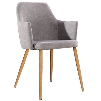 fauteuil de table sixty gris clair