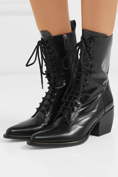 fa7cb919 Chloé | Rylee glossed-leather ankle boots | NET-A-PORTER.COM ...