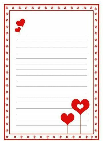 Plantillas Y Bonitos Formatos De Cartas De Amor Formato De Carta