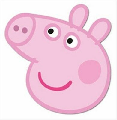 Peppa Pig Face Outline Peppa Pig Party Supplies Peppa Pig Birthday Peppa Pig Birthday Party