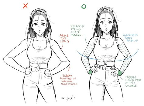 Hands on Hips Drawing Reference and Sketches for Artists Drawing Body Poses, Drawing Reference Poses, Hand Reference, Anatomy Drawing, Anatomy Art, Drawing Techniques, Drawing Tips, Drawing Stuff, Drawing Anime Hands