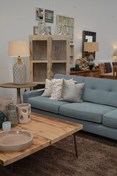 Stunning Timber And Linen Lounge From The General Store Furniture Homewares Osborne Park