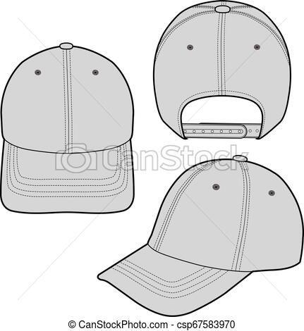 Baseball Cap Fashion Flat Sketch Template Vector Stock Illustration Royalty Free Illustrations Stock Clip Baseball Caps Fashion Fashion Flats Flat Sketches