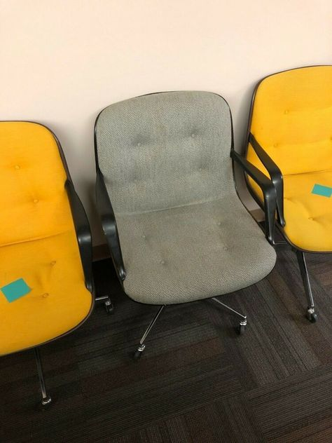 Steelcase 1982 Grey Mid Century Modern Executive Office Chairs