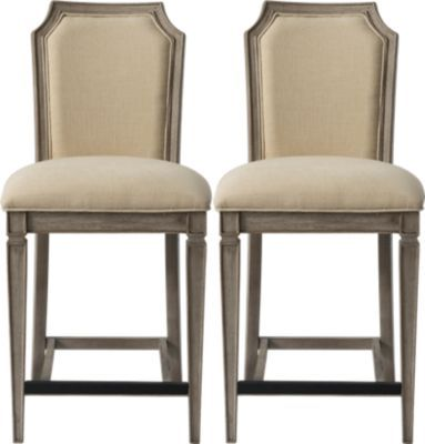 Awesome Mineola Natural Counter Height Stool Set Of 2 Barstools Bralicious Painted Fabric Chair Ideas Braliciousco