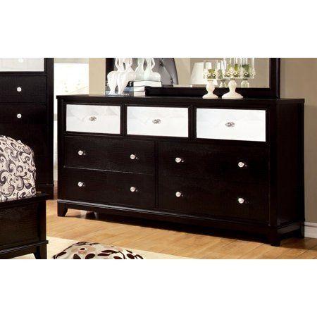 Furniture Of America Bryant Black Bedroom Dresser Crocodile ...