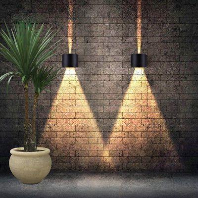 Ip65 12w Led Aussenleuchte Wandlampe Led Wandleuchte Aussen Garten Lampe Veranda Led Outdoor Wall Lights Outdoor Wall Lamps Led Wall Lights