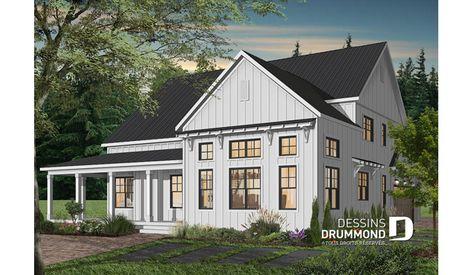 Plan De Maison Unifamiliale Greenhills 2 No 2655 V1 Modern Farmhouse Plans Farmhouse Plans Farmhouse Floor Plans