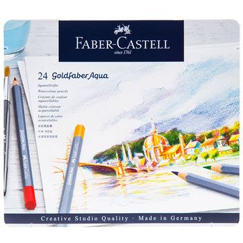 Goldfaber Aqua Watercolor Pencils 24 Piece Set Aqua Watercolor