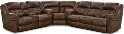 Homestretch Frontier Chocolate 3 Piece Reclining Sectional