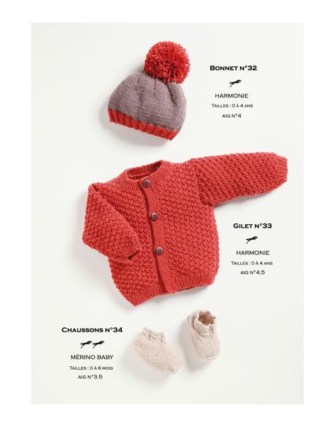 Ravelry: Bonnet-Cardigan-Booties pattern by Cheval Blanc Official