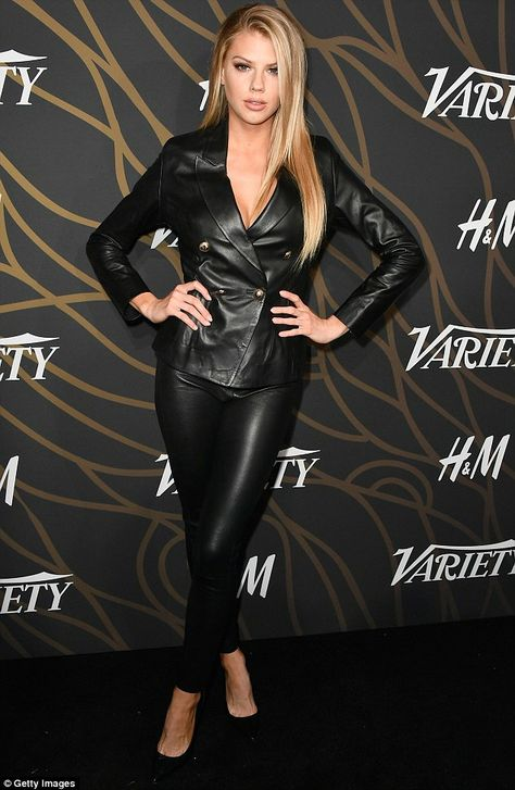 Imperial in leather: Charlotte McKinney looked in fine form at the Variety Power of Young Hollywood bash in Los Angeles on Tuesday