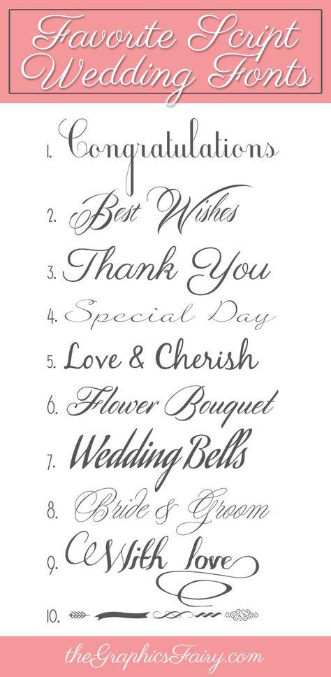 Favorite Script Wedding Fonts!
