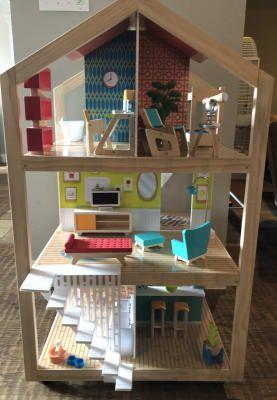So Stylish Mansion Dollhouse With Ez Kraft Assembly Modern