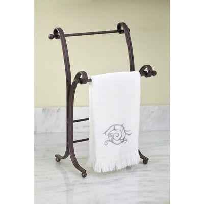 Winston Porter Kilgore Towel Stand Finish Bronze Towel Holder Towel Holder Stand Bath Towel Storage