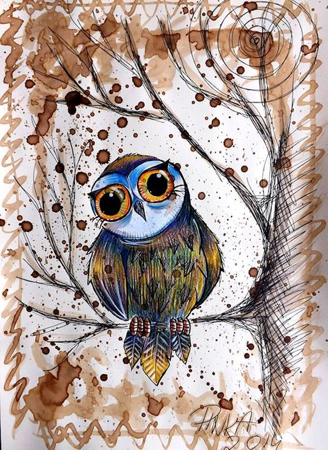 Owl artwork by Paula Wawrzynek - The Owl Pages