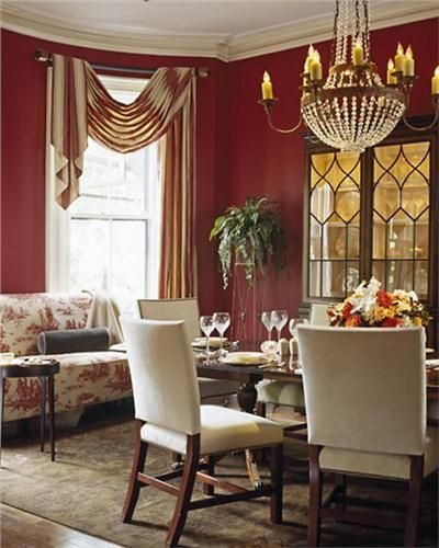 Traditional Victorian Colonial Dining Roomtony Cappoli Alluring Dining Room Window Treatments Design Inspiration