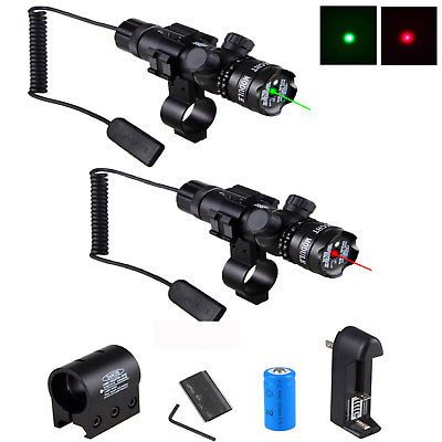Tactical Red Light Flashlight w// Remote Switch Rail Mount for Rifle Hunting