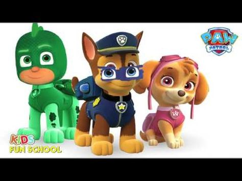 Coloring Pages Of Paw Patrol : Paw patrol as pj mask coloring pages fun coloring video