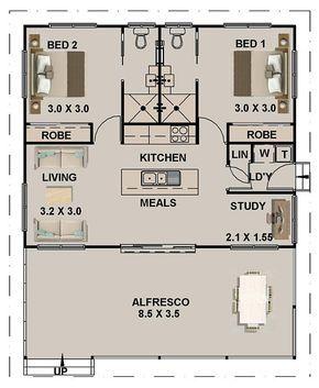 89 8 M2 Or 966 Sq Foot 2 Bedrooms 2 Bathroom Granny Flat Australia And Usa Concept Plans Blueprints House Plans Small House Plans In 2020 Tiny House Floor Plans Courtyard House Plans Tiny House Plans
