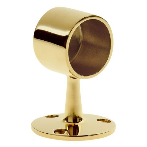 Polished Brass End Bracket Round Curtain Rod 1 1 5 2 Brass End Bracket Gold Curtain Rods Polished Brass Gold Curtains