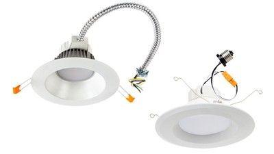 4 White Adjustable Eyeball Led Retrofit Downlight Trim 8f887 Lamps Plus Downlights Lamps Plus Led