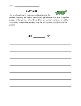 This Provides Three Exit Slips That Quiz Your Students Over Greater Than Less Than And Equal To Each Exi Writing Rubric Persuasive Writing Paragraph Writing