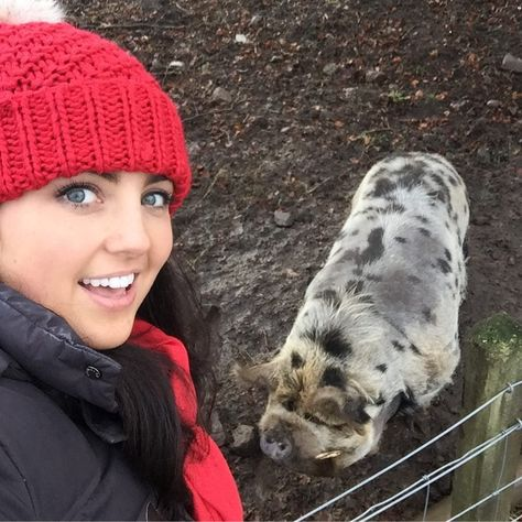 "Storm Huntley on Instagram: ""Pig selfie 🤳  You choose which is which! 🐷 #downonthefarm"""