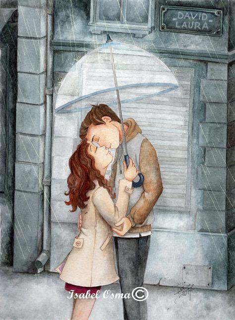 Ilustracion en acuarela de Isabel Osma
