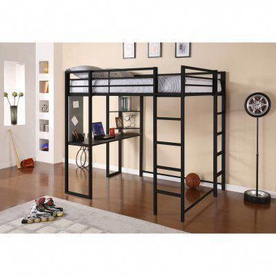 Dhp Abode Full Loft Bed Black 5457196 House Loft Bed Bunk Beds With Stairs Metal Loft Bed
