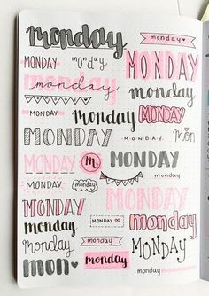 Want some inspiration for your bullet journal? Try out these super easy weekly headers in your next spread in your journal! Check out this post to find creative bullet journal weekly header ideas for every day of the week!