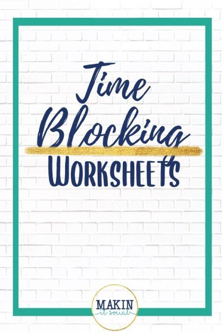 FREE Time Blocking Worksheets for your online business! Click here to opt in!!   -Brought to you by Makin' It Social