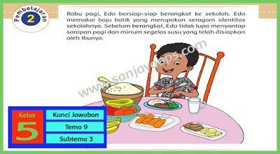 Kunci Jawaban Buku Siswa Tema 9 Kelas 5 Halaman 129 130 131 132