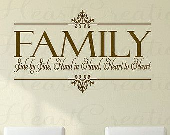 Family Togetherness Christian Quotes | ... Christian Family Wall Quote Lettering Vinyl Decals 22h x 36w QT0106