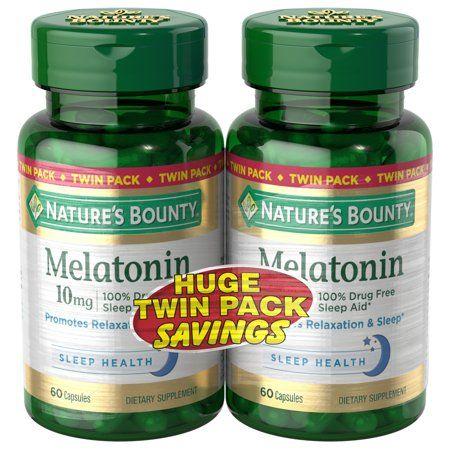 Nature S Bounty Melatonin Sleep Aid Capsules 10 Mg 60 Ct 2 Pack Walmart Com Nature S Bounty Melatonin Cycling Food