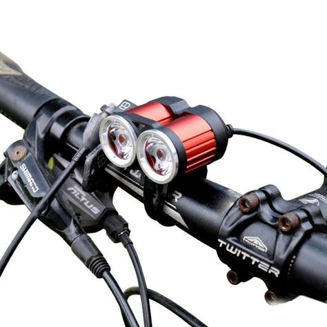 2000 Lumen Super Bright MTB Bike Cycle USB T6 LED Front Rear Light set w//bracket